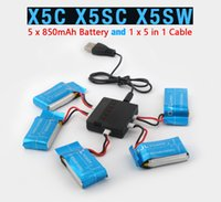 Wholesale Syma X5SW X5SC X5C RC Quadcopter Battery Ultra high Capacity V mAh Lipo Battery and in Cable Spare Parts