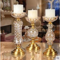 Wholesale Crystal Ball Holder Stand - 2016 creative crystal glass candle holders, wedding and Christmas products, home decorative arts and crafts