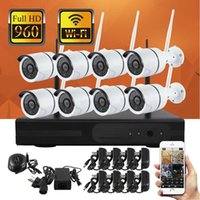 Wholesale 8CH P Waterproof Outdoor WiFi Wireless IP camera Kits with Wireless NVR Support VGA HDMI to Monitor Can Use Smart Phone Monitor