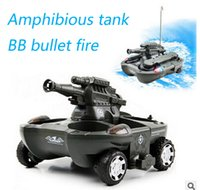 baby bullet - Baby toys Rc tank boy toys Amphibious tank CH large RC Tank Toy Remote Control Tank fire BB bullets shooting Gift for Kids