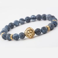 animal channel - 2016 the agate beads jewelry fashion lava lapilli lion a bracelets Men and women s jewelry every holiday gifts