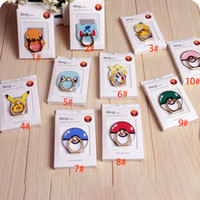 acrylic mounting - 2016 Poke Go Pikachu Elf Ball Phone Cell Ring Holders Cartoon Action Figure Back degree Remove Mobile Mounts Acrylic Package XL P113