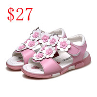 applique kids - Kids Girl sandals Baby Summer Shoes Baby First Walk Shoes Kid Shoes good quality kids casual Sandals Shoes