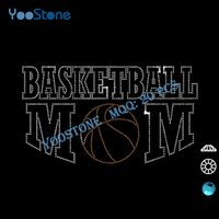 basketball shirt design - Best Iron On Motif Design Basketball Mom Rhinestone Transfer For t Shirts Decoration
