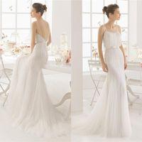 Wholesale 2016 Spaghetti Sheath high quality wedding dresses Elegant mermaid Bride gowns backless country style plus beach wedding dress QW812