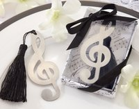 Wholesale Music Note Alloy Bookmark Novelty Ducument Book Marker Label Stationery Exquisite Gift Book mark