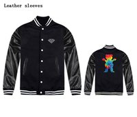 baseball diamond size - Brand clothing Diamond Supply Co men baseball jacket Coat Outerwear Thick Carried away size US S XL GRIZZLYGRIP x Diamond Supply jacket