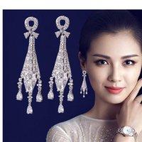 Wholesale 2016 hot selling Star with a high grade Korean popular fashion long Tassel Earrings needles