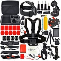 belt accesories - action cam outdoor sports accesories suit compatible with xiaoyi sj4000 hero4 DV chest belt self pole buoyancy rod parts combination