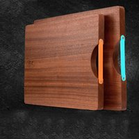 Wholesale Eco Friendly Wooden Chopping Block Natural Color Solid Wood Breadboard Rectangle Multi Functional Cutting Board Food Tray Pizza Plate Dishes