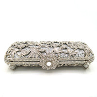 Wholesale 2016 Fashion Hand Bag And Ladies Evening Bag Rhinestone Clutches Crystal Wallet Purse For Wedding Party Banquet
