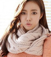 Wholesale Women Thick Ribbed Knit Winter Infinity Circle Loop Scarf Men Scarf
