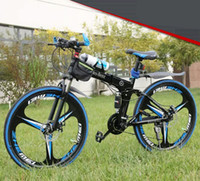 Folding Mountain Bicycle 21 velocità freni a disco pieghevole mountain bike 20/24/26 pollici uomo alto MTB