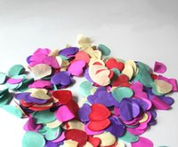 Wholesale High quality Wedding Party Confetti Multi Color Romance Sparkle Love Heart Table Decoration Wedding Supplies DZ