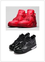 leather material - high quality original New Retro men s Basketball shoes Lab Red and Black patent leather material Sneakers Training shoes