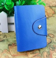 Wholesale Genuine leather card holder card case Hasp Unisex ID Holders Package Organizer ger Business Card holder Slots