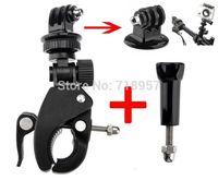 Wholesale-Deportes accesorios de la cámara rápida de montar y de lanzamiento del montaje del montaje del manillar de la bici rápido Montaje de abrazadera con adaptador y tornillo para GoPro