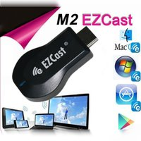 Wholesale Ezcast W2 M2 iPush Chromecast TV Dongle HDMI Support Miracast DLNA Airplay Wireless Streaming Media Player Push to TV Projector for XiaoMi
