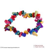 Wholesale European American retro style multi color natural stone series bracelet women jewelry christmas gift erastic chain