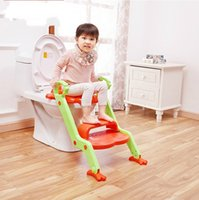 Wholesale 2016 new style Baby Potty Seat With Ladder Children Toilet Seat Cover Folding infant potty chair Training Portable Potties