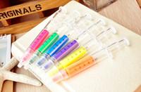 Wholesale Syringe Highlighter Pen Plastic School Office Nurse Doctor Student Brush Brand New Good Quality