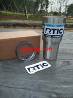 Wholesale 30 OZ Bilayer Stainless Steel RTIC Tumbler Insulation Cup Cars Beer Mug Large Capacity Mug