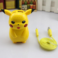 battery powered outlet - Cartoon Power Bank Charging Treasure Go wizard Ball Mobile Power Factory Outlets With LED USB Phone Battery Mobile Chargers