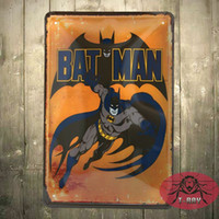 Wholesale BATMAN Retro Superhero Comics Tin Sign Home Decor Man Cave E