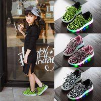 Wholesale 2016 Boys Girls LED Light Up Sport Flats Kids Luminous Sneakers Casual Shoes LED Light Heelys Roller Skate Shoes For Children Kids Sneakers