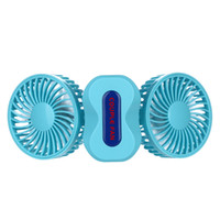Wholesale 2016 USB Mini Couple Foldable Fan Degree Rotation in Air Conditioner Cooling Portable Rechargeable Fan mAh