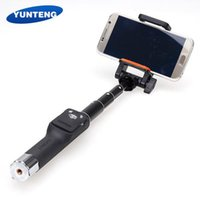 Wholesale YUNTENG YT Extendable Rotatable Selfie Stick Self Timer Monopod with Bluetooth Remote Shutter for iPhone Samsung Smartphone