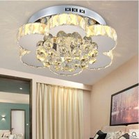 Wholesale Factory direct modern bedroom simple crystal lamp LED living room ceiling lamp circular dining room crystal lamp balcony aisle lamps