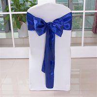 Wholesale 275cm cm home hotel wedding banquet party chair cover DIY Organza Fabric Wedding Chair Sash Bows Swag Party Decoration