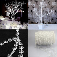 Wholesale 2016 HOT FT m Garland Diamond Strand Acrylic Crystal Bead Wedding Decoration Romantic Wedding Favor Party Favour Decor