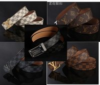 Wholesale 2016 new hip brand buckle l designer v belts for men women genuine leather gold cinto gg belt v Men s