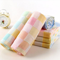 Wholesale bath towels baby towels washcloths cotton baby bib cute small towel for kindergarten children sweat and slobber X26CM