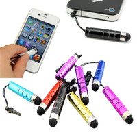 Wholesale 100pcs Mini Stylus Touch Pen with plastic material capacitive touch pen for mobile phone tablet pc