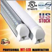Wholesale USA Stock shipping T8 led Tube ft m W led tube LM SMD2835 Feet M Light led lighting fluorescent transparent case led Tubes