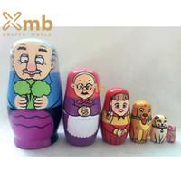 babushka fashion - Matryoshka Russian Nesting Doll Babushka Beautiful Repka Turnip Tale Pieces For Home Decor Christmas Gift