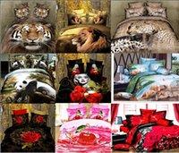 bedding dropship - dropship polyester D flower tiger lion leopard Monroe rose bedding bed sheet set bedclothes duvet cover set bedding set