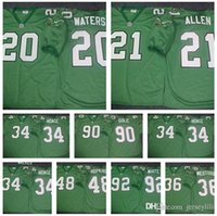 Wholesale WES HOPKINS REGGIE WHITE ANDRE quot Dirty quot WATERS BRIAN DAWKINS BYRON EVANS ERIC ALLEN Philadelphia kelly green THROWBACK retro Jersey cheap