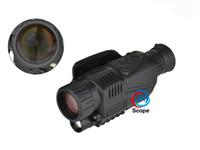 Numérique infrarouge vision nocturne monoculaire portée 5x grossissement vision nocturne portée tactique 5x40 caméra numérique vidéo en CCD