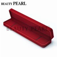 Wholesale Rectangle Red Velvet Gift Box for Necklace Show Case Display Storage Jewelry Boxes