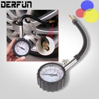 air tube systems - Long Tube Auto Car Bike Motor Tyre Air Pressure Gauge Meter Tire Pressure Gauge PSI Meter Vehicle Tester Monitoring System