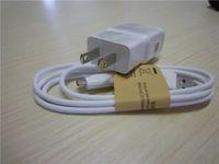 1: 1 2A para Samsung Galaxy S2 S3 S4 Nota 2 adaptador de cargador de pared enchufe de los EEUU de la UE Plug-ETA U90JWS + Micro USB cable de datos del BCE-DU4AWE