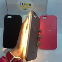Wholesale Fashion Luxury Illuminated Phone Case LED light Cases Selfie Fill In Light Shell Shockproof Back Cover For iphone s plus s plus
