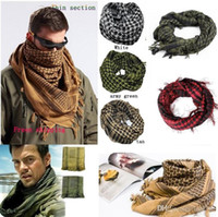 arab head scarf styles - New common style outdoor Arab magic scarfs The special free soldier head scarfs shawl made of pure cotton Scarves