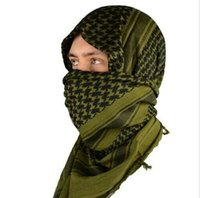 Wholesale Mato Hash Military Windproof Ring Scarfs Shemagh Head Warp Desert Scarves Neck Tactical Cotton Keffiyeh Scarf
