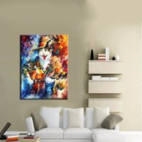 best cat pictures - Handpainted High Quality Funny Design Animal Oil Painting Cat Pictures On Canvas For Wall Artwork Home Decor Best Gift Art
