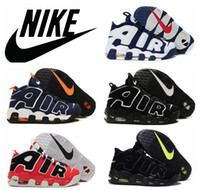 Wholesale Nike Air More Uptempo Olympic Scottie Pippen red black men Basketball Shoes Nike Fashion Brand Sports Shoes Nike Air max Tennis shoes US13